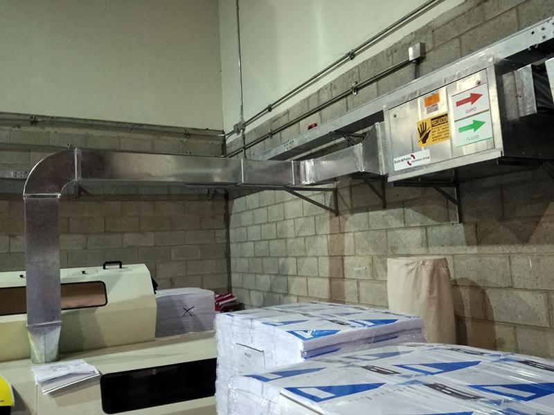 Extracción con ductería en Corp. Industrias Standford