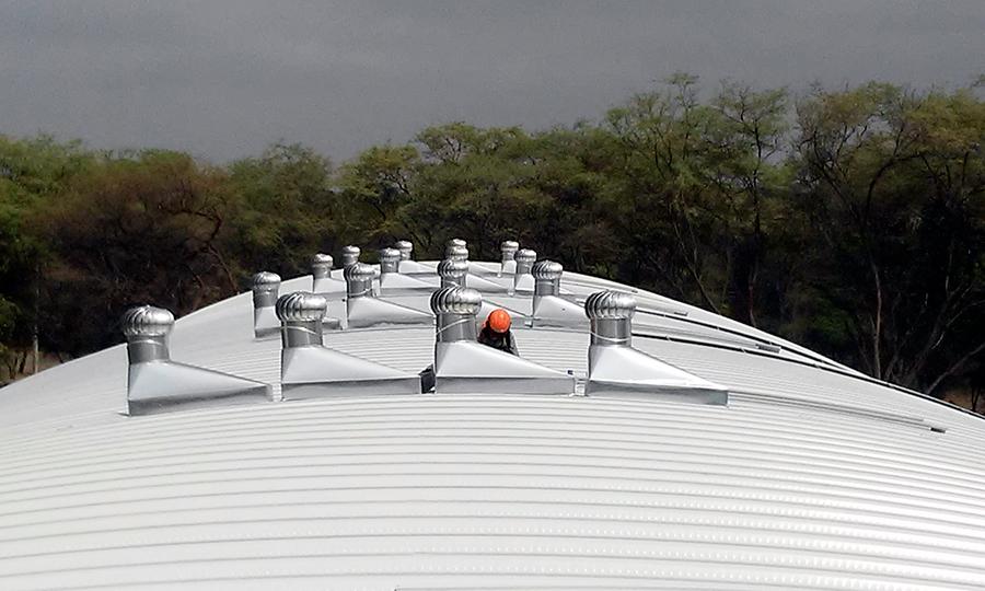 Extractor Eólico en Arcotecho Univ