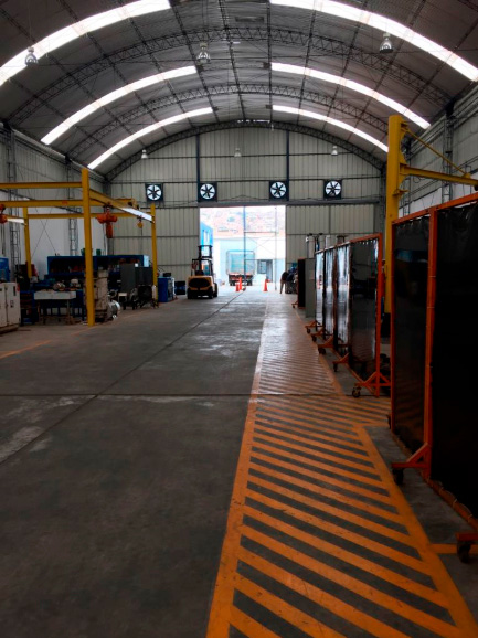 Ingreso de aire filtrado de acuerdo a normatividad de DIGESA y Ministerio de la Producción